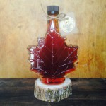 This photo displays our 250 ml Fancy Glass Maple Leaf.